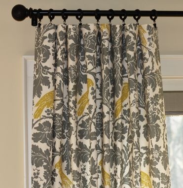 Custom Made Custom Curtain Panels Dove Grey Gray Caftan Ikat By Home Accents 90l Designer Curtains Linen