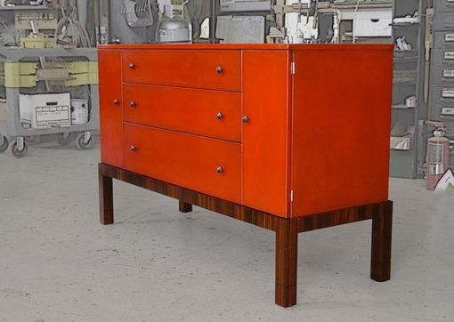 Custom Made Red Credenza