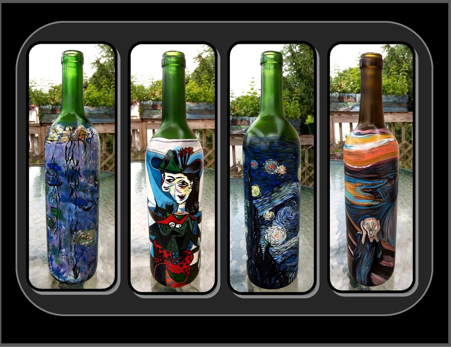 Kitchen art wine - Buy A Hand Crafted Claude Monet Water Lilies Materpiece Wine Bottle Wine Art Kitchen Art Art Made To Order From Artistic Creations By Rose