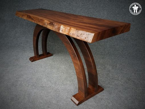 Custom Made Live Edge Slab Console Tables