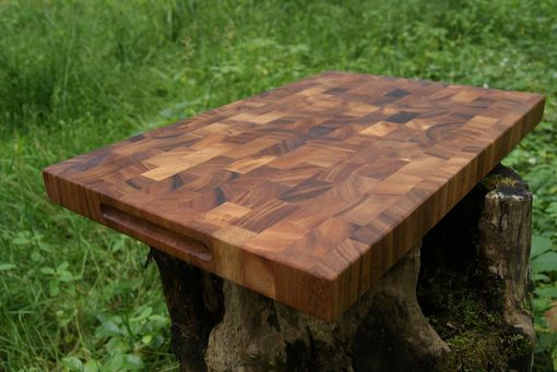 Custom Made Acacia End Grain Cutting Board Butcher Block