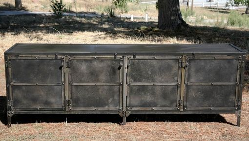Custom Made Buffet - Hutch, All Steel (Reclaimed Wood Avail.) Modern Industrial, Credenza Media Console
