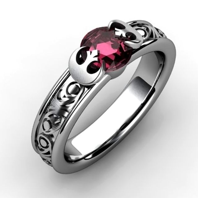 princess leia inspired engagement ring - Green Lantern Wedding Ring