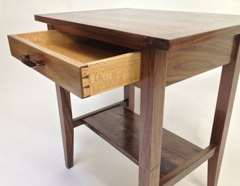 Custom Made Walnut End Table