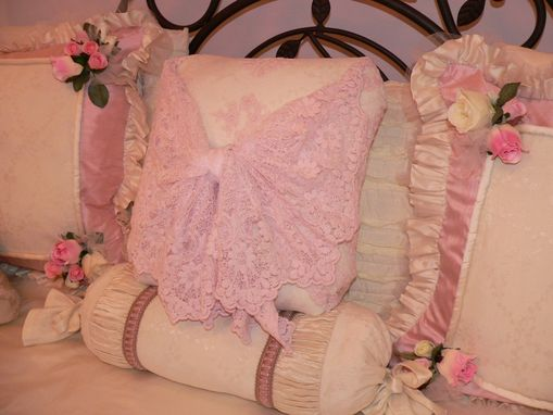 Custom Made Bedding With Silks, Lace And Tulle Galore