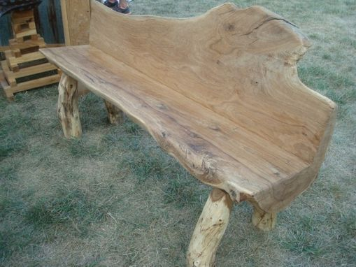 Custom Made White Oak Log Bench