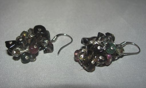 Custom Made Smoky Quartz, Tourmaline Rondelle Earrings