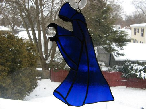 Custom Made Stained Glass Medieval Wizard