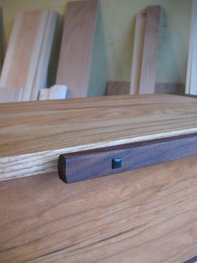 Custom Made Large Wooden Box From Cherry, Walnut And Oak