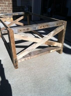 Custom Made Reclaimed X Coffee Table