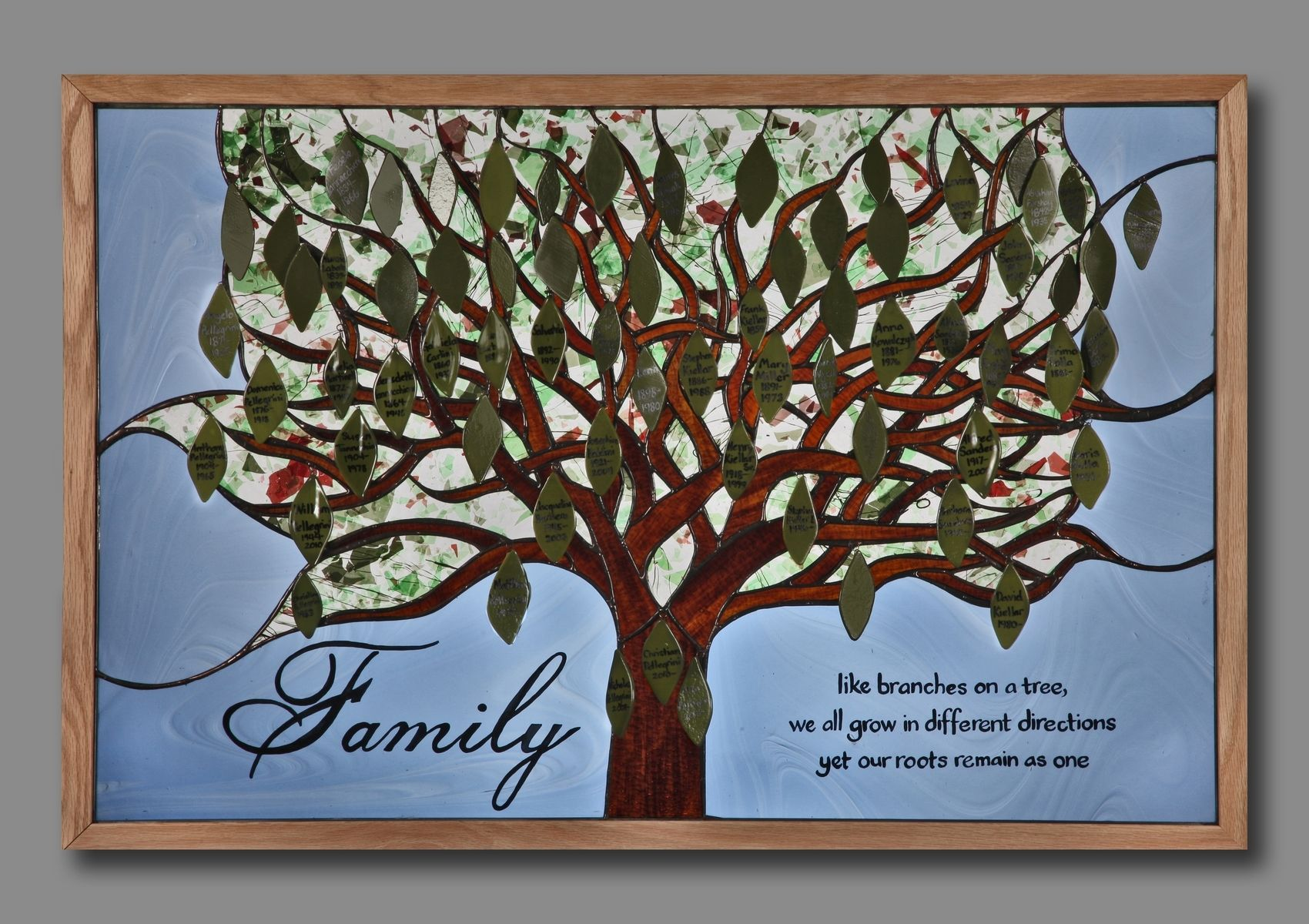 Custom Made Stained Glass Family Tree By Paradise Custom