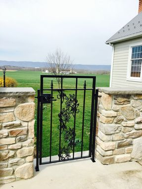 Custom Made Hummingbird Garden Gate