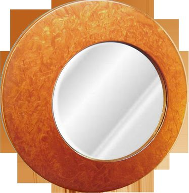 Custom Made Round Off-Centered Designer Mirror