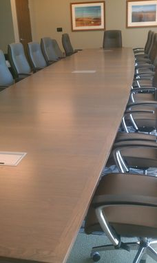 Custom Made 24 Ft Veneer With Wood Edge Conference Table