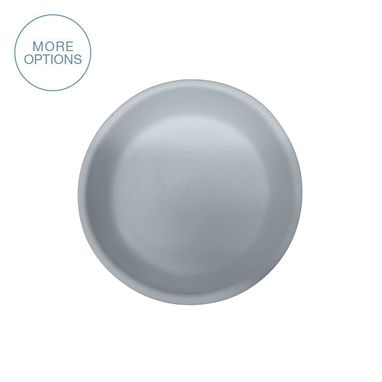 "Custom Made Matte Porcelain Usa Made 7"" Salad Plate- Grey"