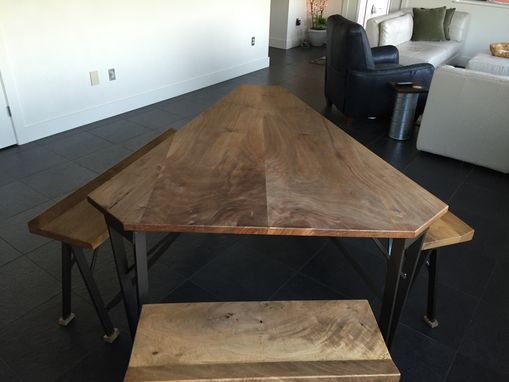 Custom Made Dining Room Table With Benches