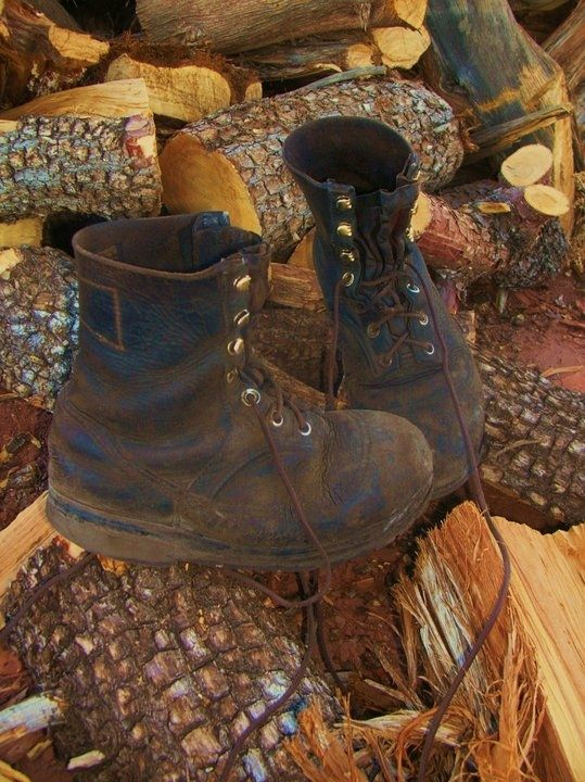 handmade buffalo hide leather work boots after 7 years of