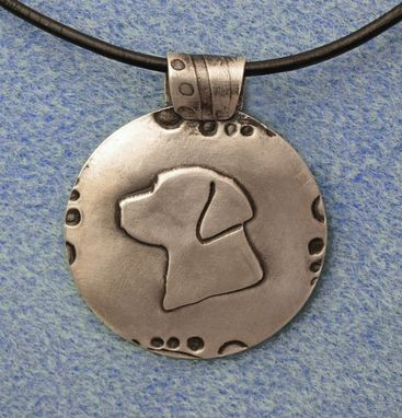 Custom Made Large Lab Head Pendant With Abstract Border