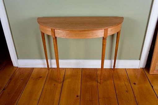 Custom Made Cherry Demilune Table