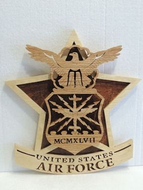 Custom Made U. S. Air Force Plaque On Star