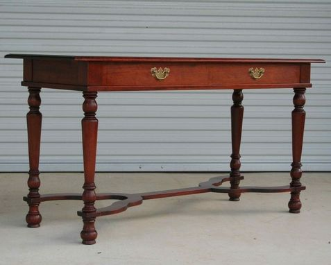 Custom Made Reproduction Mahogany Signing Table