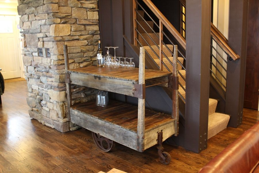 Dining Room Bar Cart: Custom Bar Cart By Rustically Modern