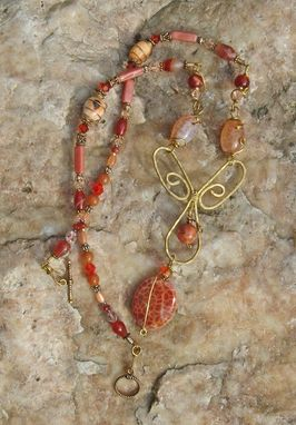 Custom Made Fire Agate Necklace