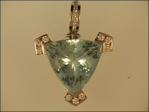 Custom Made Aqua Marine Pendant