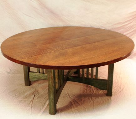 Custom Made Stained Oak Coffee Table