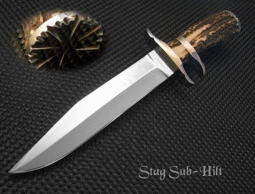 Custom Made Stag Sub-Hilt Fighter