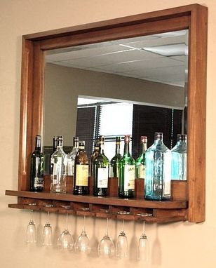 Hand Crafted Solid Mahogany Wine Bottle Amp Glass Rack