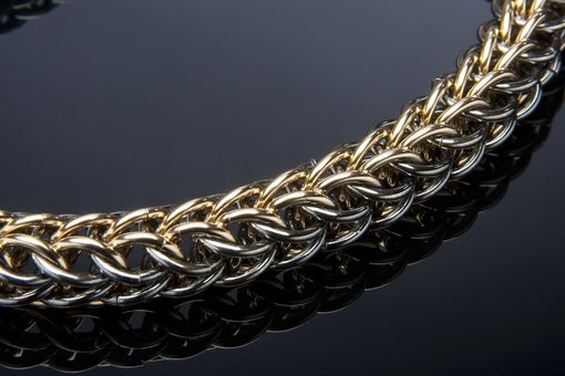 Hand Crafted Men S 14k Gold Amp Black Persian Weave