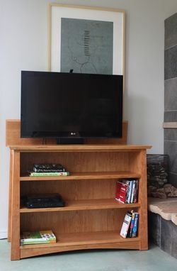 Custom Made Zen Bookcase / Tv Lift