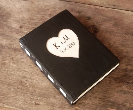 Custom Made Wood Carved Wedding Photo Album