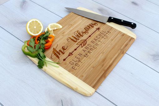Custom Made Personalized Cutting Board, Engraved Cutting Board, Custom Wedding Gift – Cb-Bam- Wilsons