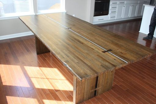 Custom Made Salvaged Mixed American Hardwood Dining Table