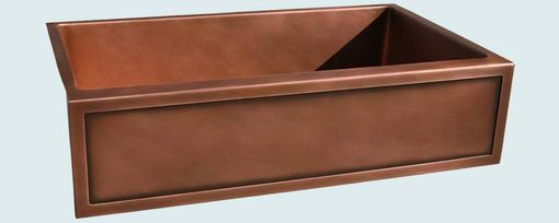 Custom Made Copper Sink With Framed Apron