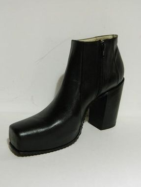 Custom Made Ankle Boots1'' Plattform And 5¨ Heel Side Zipper Men Size 10 Ready To Shipp