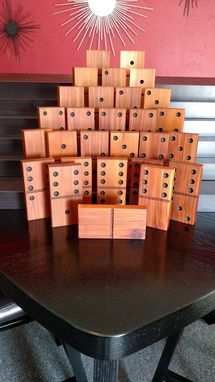 Custom Made Giant Dominoes Solid Cedar Full Set Of 28