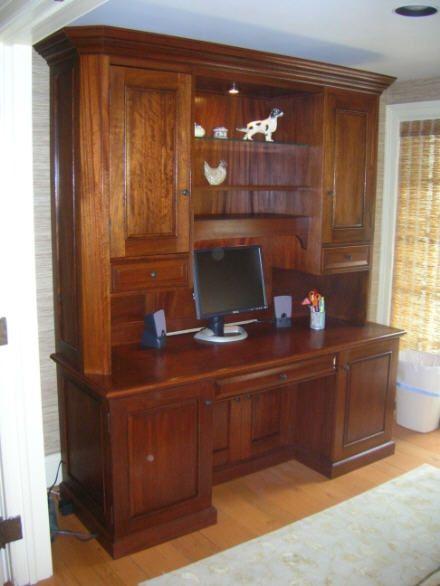 Custom Mahogany Computer Desk By Jeffrey Kimsey Carroll