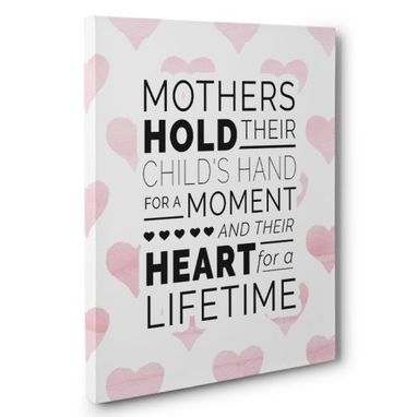 Custom Made Mothers Hold Their Child Canvas Wall Art