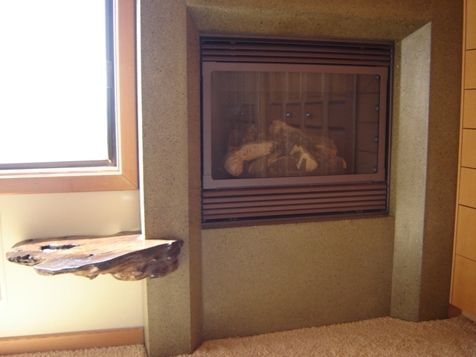Custom Made Sea Ranch Bedroom Fireplace