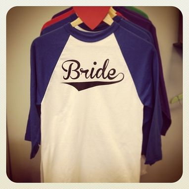 Custom Made Bride Baseball T-Shirt