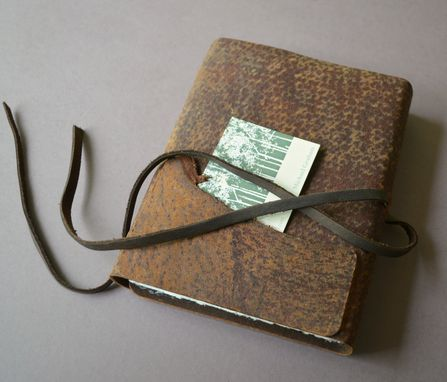 Custom Made Distressed Leather Journal Pigskin Bound Adventure Outdoor Diary With Sleeve (397c)