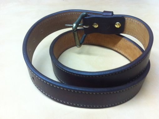 Custom Made Leather Belt Plain Doubled And Stitched