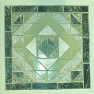 Custom Made Ceramic Tile Wall Art - Shades Of Green