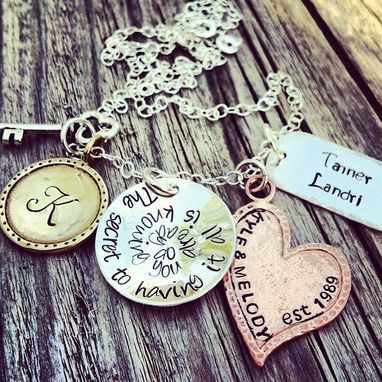 Custom Made Hand Stamped Family Keepsake Mixed Metal Mothers Necklace The Secret To Having It All