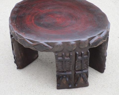 Custom Made Solid African Mahogany Stump Mini Coffee Table