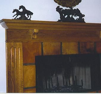 Custom Made Oak Fireplace Mantle & Surround