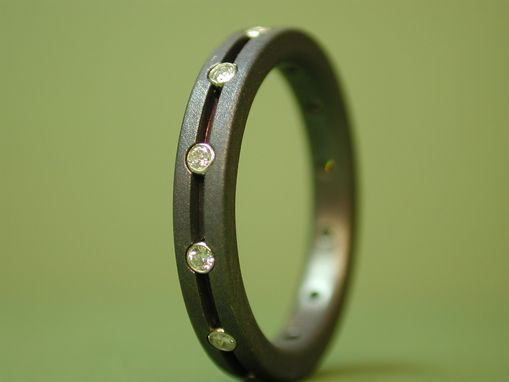 Custom Made Eternity Ring With Diamonds